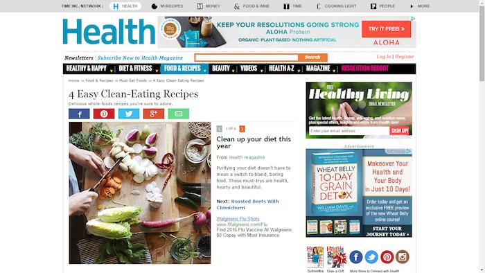 Rodale January Carousel on Health.com