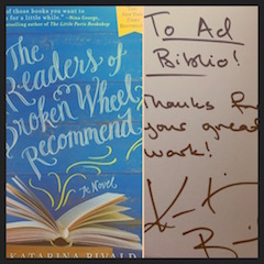 AdBiblio's treasured SIGNED COPY of The Readers of Broken Wheel Recommend!