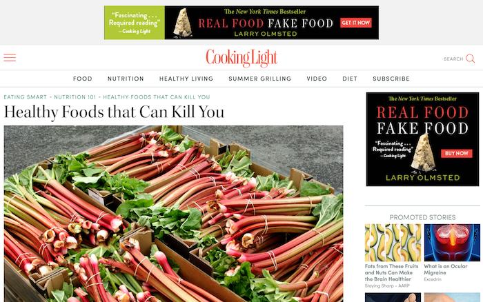 Real Food Fake Food On Cooking Light