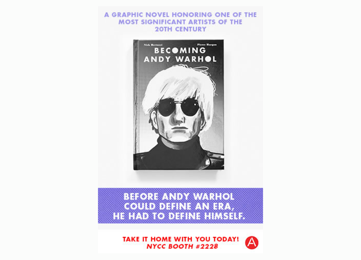 ABRAMS Becoming Andy Warhol Comic Con Proximity Targeting Ad Creative