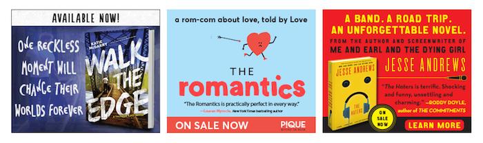 YA Romance book ad examples