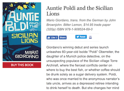 auntie poldi review on publishers weekly